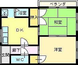 北尾マンション[2階]の間取り