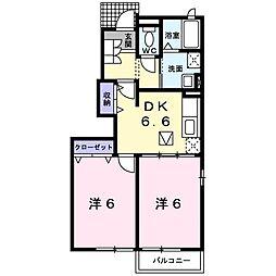 モダンヒルハウス[1階]の間取り