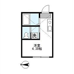 アザーレきらら[1階]の間取り