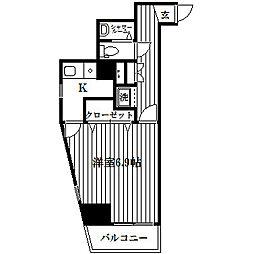 ワコーレ三ツ沢公園II[502号室]の間取り