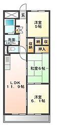 愛知県名古屋市緑区滝ノ水3丁目の賃貸マンションの間取り