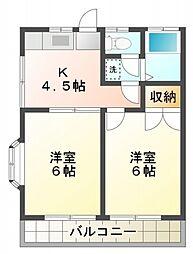 プリマベーラ恋ヶ窪[1階]の間取り