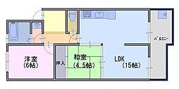 北前田マンション[4階]の間取り