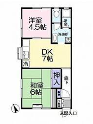 内藤アパート[203号室号室]の間取り