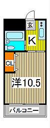 コーポ詩苑[2階]の間取り