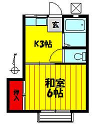 パナハイツコイケ[203号室]の間取り