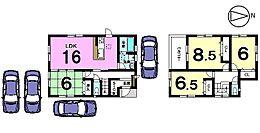 駐車4台可能土地面積52.78坪、角地の物件です。お気軽にお問合せ下さい。
