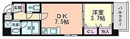 ラルテ天王寺[2階]の間取り