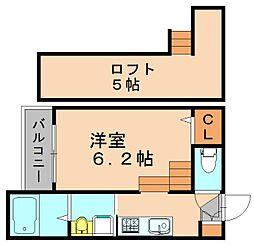 ルココンシックス竹下[2階]の間取り