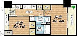 エステムプラザ大阪城パークフロント[12階]の間取り