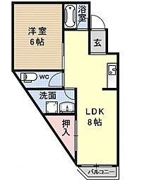 メゾン四ノ宮[105号室号室]の間取り