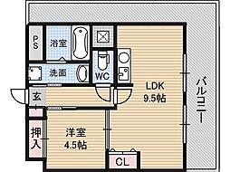 サムティ新大阪WEST[10階]の間取り