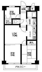 東京都青梅市河辺町1丁目の賃貸マンションの間取り