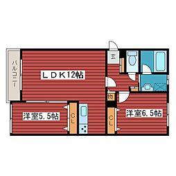 仮)西岡2-2マンション[1階]の間取り