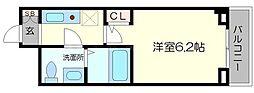 Terminals茨木 6階1Kの間取り