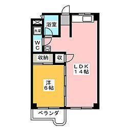 シェイーネマツノ南棟[3階]の間取り