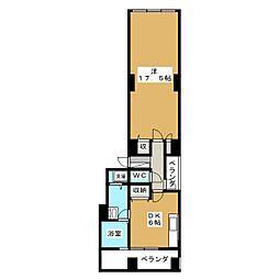 十月館[4階]の間取り