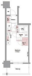 JR東海道・山陽本線 大阪駅 徒歩7分の賃貸マンション 8階ワンルームの間取り