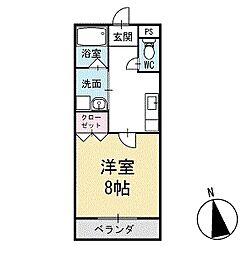 パーシモンガーデン 2階[203号室]の間取り