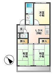 CORPO SHINYASHIKI[2階]の間取り
