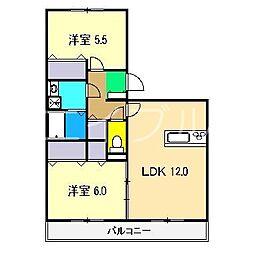 パストラル A棟[3階]の間取り
