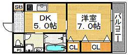 クリエイト彩[9階]の間取り