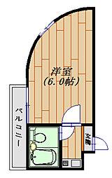 ジュネパレス松戸第31[209号室号室]の間取り