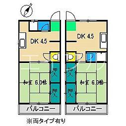ボンジュール宗円[2階]の間取り