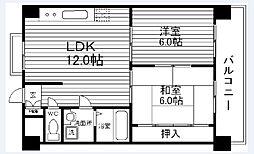 コンフォート北花田[2階]の間取り
