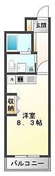 レジュールアッシュ江坂[7階]の間取り
