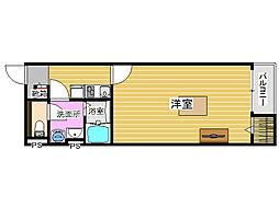 福岡県糸島市潤1丁目の賃貸アパートの間取り