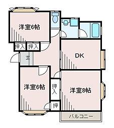 愛川パレス[2階]の間取り