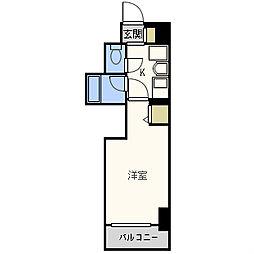 エステムコート大阪城南II[8階]の間取り