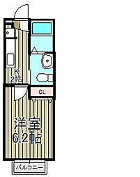 ガーデンコート仲宿III[203号室]の間取り