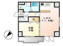 シェルジェ覚王山[7階]の間取り