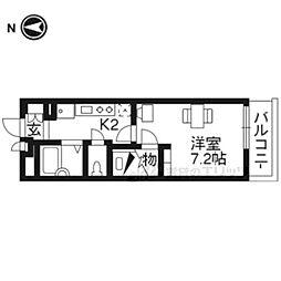 阪急京都本線 桂駅 バス10分 三ノ宮街道下車 徒歩9分の賃貸アパート 4階1Kの間取り