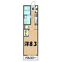 リブェールSHINO III[206号室]の間取り
