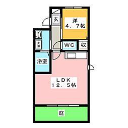 ラ・コリーヌ福泊[1階]の間取り
