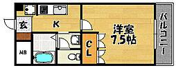 大阪府大阪市東淀川区瑞光3丁目の賃貸マンションの間取り