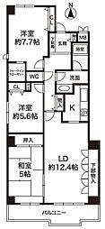 ベルセーズ・ド・夙川[1階]の間取り