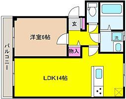 兵庫県神戸市東灘区住吉東町3丁目の賃貸マンションの間取り