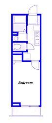 京急本線 生麦駅 徒歩4分の賃貸アパート 2階1Kの間取り
