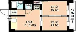 Court八家 (コートヤツヤ)[4階]の間取り
