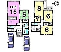 収納スペースを豊富に確保しました。並列で駐車2台可能です。モデルルームもございますのでお気軽にお問合せ下さい。