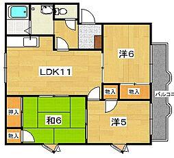 並木ハイツB[1階]の間取り