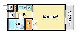 シャローム中村[2階]の間取り