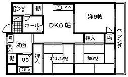 シャトー岸和田[303号室]の間取り