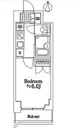 エクセリア新宿第3[307号室号室]の間取り