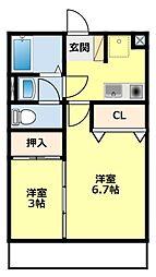 愛知県豊田市柿本町7丁目の賃貸マンションの間取り