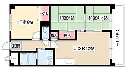 愛知県名古屋市守山区中新7丁目の賃貸マンションの間取り